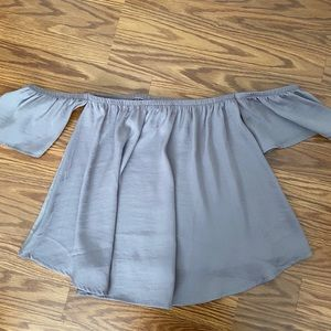 American Eagle Silky Off The Shoulder Top